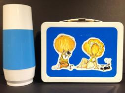 1974 OKAY INDUSTRIES BLUE CHILDREN METAL LUNCH BOX & GENERIC