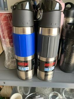 2 X Thermos Brand Stainless Steel Vacuum Insulated 18 oz Hyd