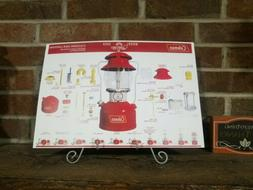 Coleman 200A Red Single Mantle Lantern Print Poster Parts Id