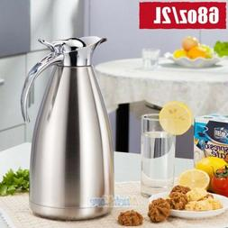 2L Thermos Bottle Vacuum Flask Stainless Steel Jug Hot/Cold