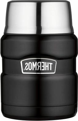 Thermos Stainless Steel Food Jar, Matte Black, 1 ea