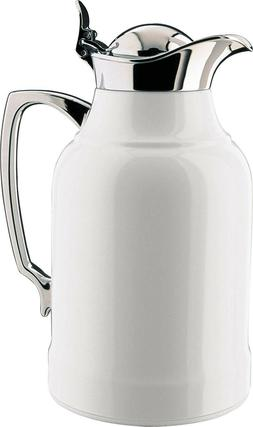 Alfi Opal White Steel Glass Vacuum Insulated Thermos Carafe