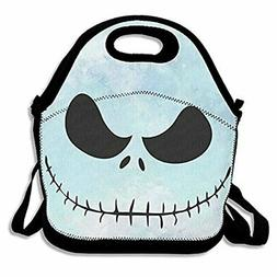 ZMvise Before Christmas Jack Skull Skellington Lunch Tote In