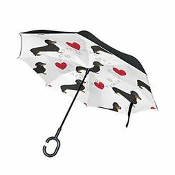 ALAZA Cat Kitten British UK Flag Inverted Umbrella, Large Do