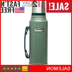 Classic Vacuum Bottle Stainless Steel Coffee Green Tea 1.1 Q