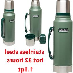Classic Vacuum Thermos Bottle Coffee Stanley Green  Hammerto
