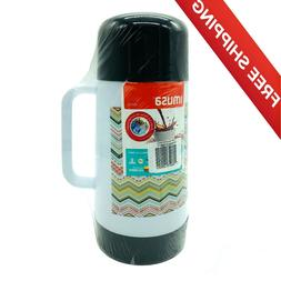 Imusa Coffee Thermos Vacuum Mug Bottle Decorated 0.75L