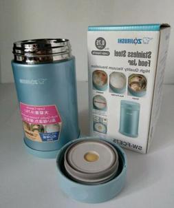 Food Jar* Aqua Blue* Stainless Steel * Zojirushi SW-FCE75-