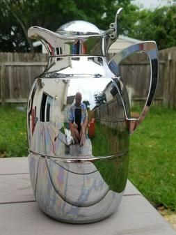 Alfi Glass Vacuum Insulated Chrome Carafe Drink Pitcher 1L c