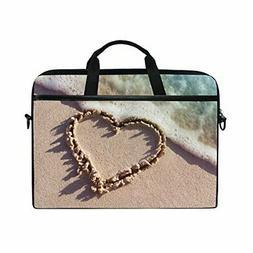 JSTEL Heart Beach Laptop Shoulder Messenger Bag Case Sleeve