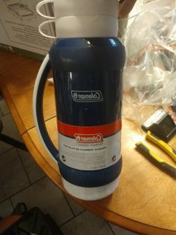 Coleman Insulated Plastic Bottle - Thermos Style - Blue