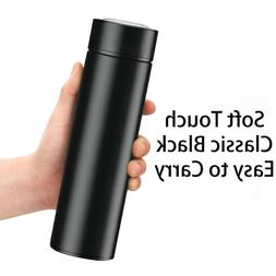Insulated Stainless Steel Vacuum Flask Thermos Black Bottle