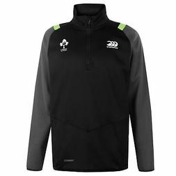 Canterbury IRFU Thermo Zip Long Sleeve Mens Rugby Black/Grey