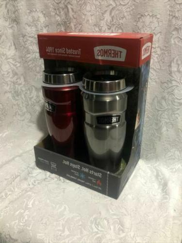 2NEW THERMOS 16oz Stainless Steel  Vacuum Insulated Travel T