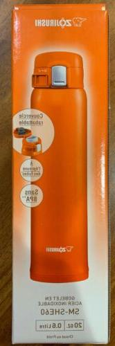 BRAND Zojirushi SM-SHE60-DV Stainless Mug, mL, Orange,