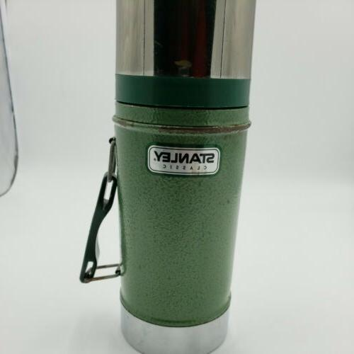 classic green wide mouth thermos stainless steel