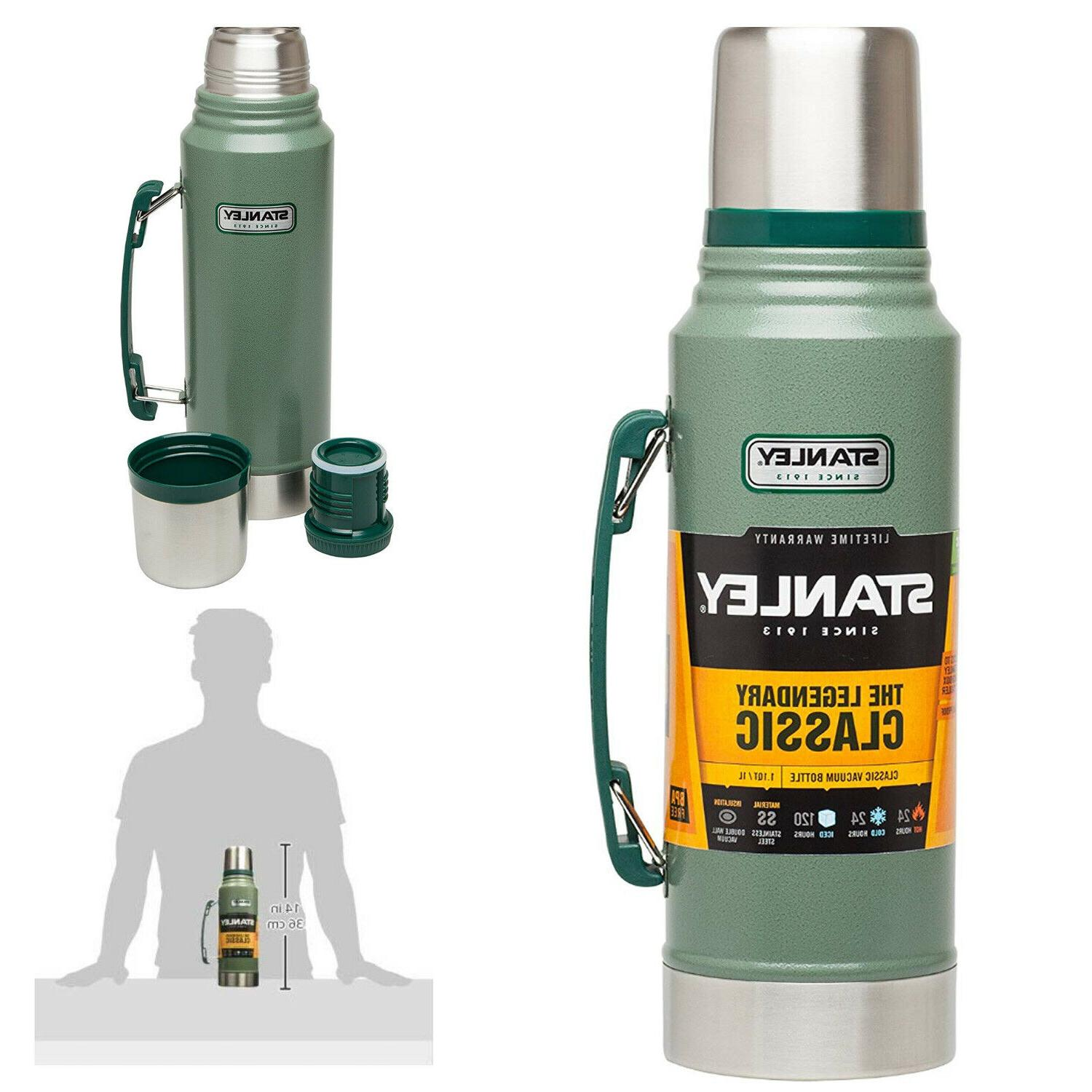 classic vacuum bottle stainless steel coffee green