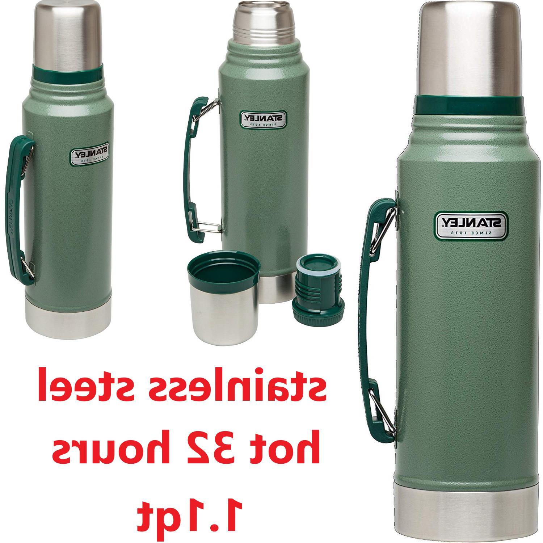 classic vacuum thermos bottle coffee green hammertone