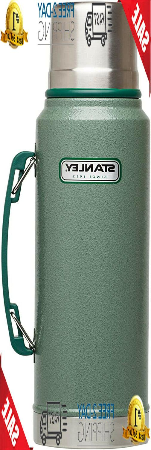 classic vacuum thermos bottle coffee green stanley