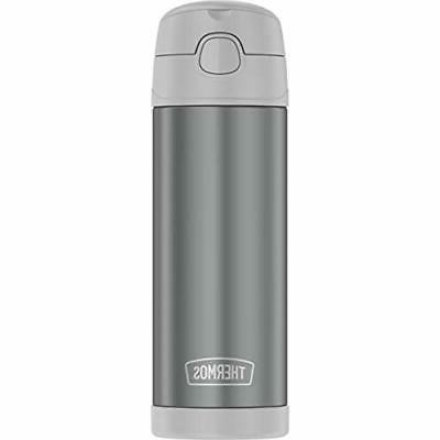 Thermos Thermoses Funtainer 16 Ounce Bottle, Cool Gray Kitch