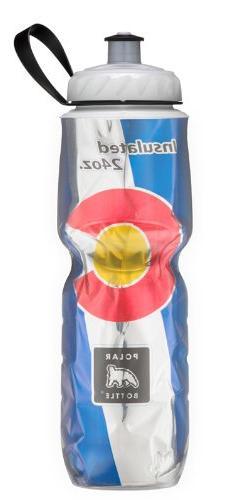 Polar Bottle Sport Insulated 24 oz State Flag Water Bottle -