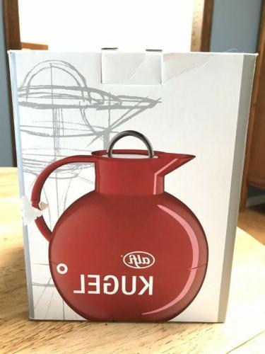 alfi Kugel Glass Thermal Carafe Hot & Made German RED