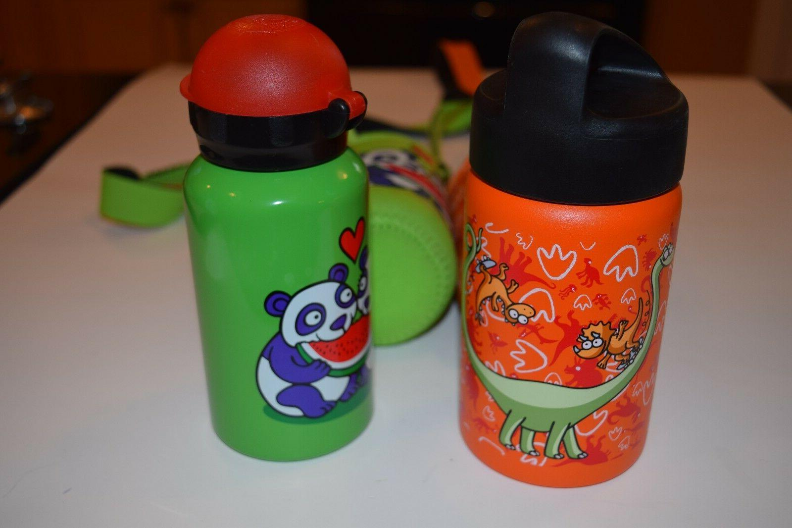 Laken Panda Water Bottle; Mouth w/covers