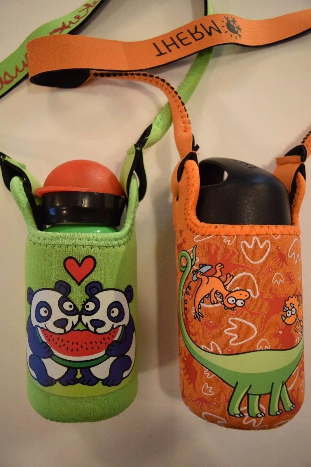 kukuxumusu panda water bottle dinosaur thermo wide
