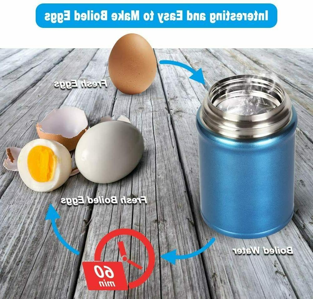 LARGE Vacuum Stainless Food Jar Container +