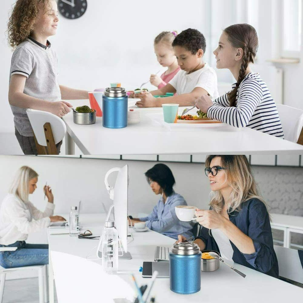 LARGE Stainless Steel Food Container + Spoon