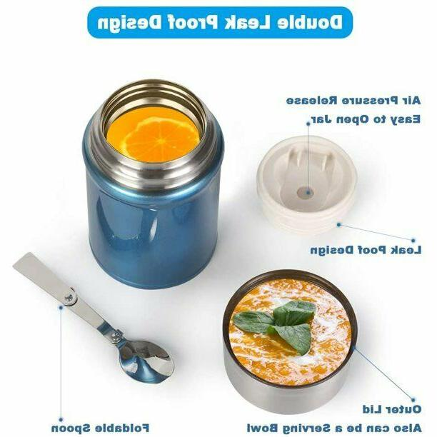 LARGE Thermos Vacuum Stainless Container Spoon 26oz