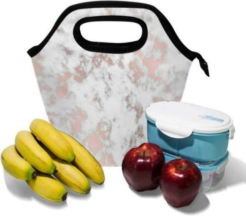 Texture Lunch Tote Handbag Multi1