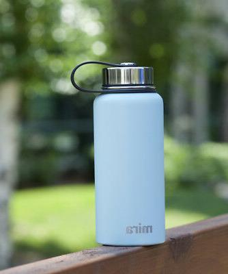 MIRA Insulated Double Wall Vacuum Steel Bottle, Blue
