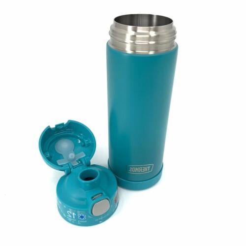 THERMOS NEW FUNtainer Water Bottle 16oz. Stainless Steel Spout