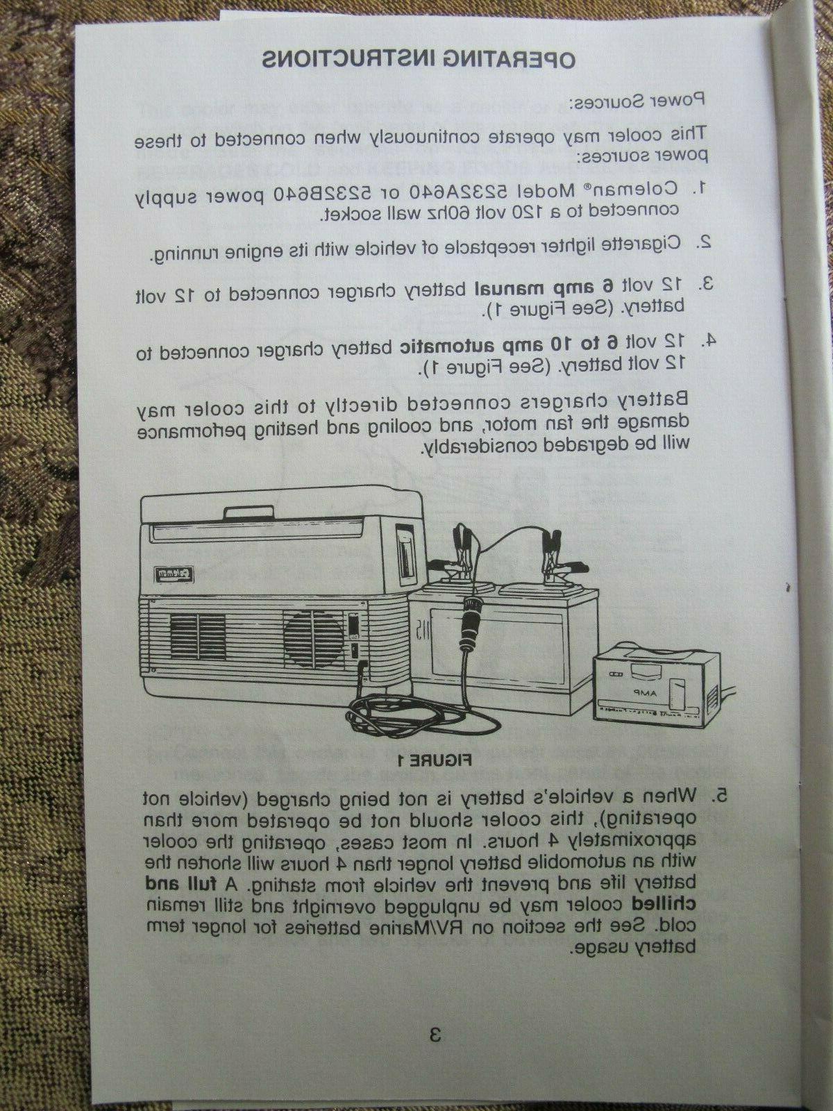 New Coleman Marlboro Portable Thermo-Electric Warmer Model