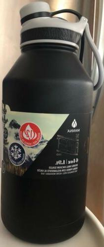 Manna Ranger Pro Black Insulated Stainless Steel Bottle 64 o