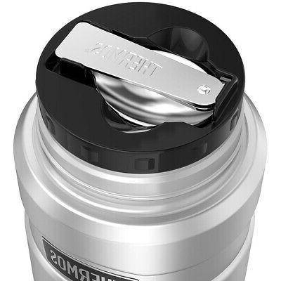 Silver Stainless Oz King Food Jar Vacuum-Insulated W/