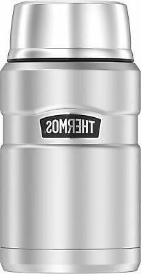 Stainless King 24 Ounce Food Jar, Stainless Steel