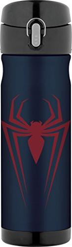 Thermos 16 Ounce Stainless Steel Commuter Bottle, Spiderman