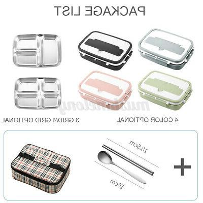 Stainless Steel Thermos Lunch Bento Food Container Kids