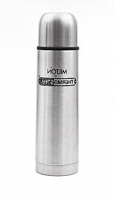 Milton Thermosteel Flip Lid Flask Silver Thermos Bottle - FR