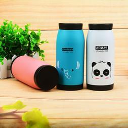 Mini Vacuum Mug Cute Animal Kids Thermos Stainless Steel Hot