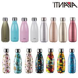 New Avanti Fluid Twin Wall Vacuum Water Bottle 350ml Stainle