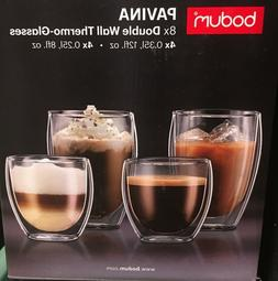 Bodum Pavina Double Wall Thermo Glasses Set of 8