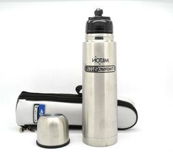 MILTON Small ThermoSteel 350 Flip Lid Stainless Steel Bottle