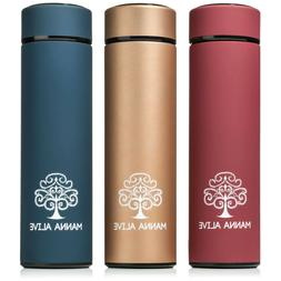 MANNA ALIVE stainless steel vacuum thermos water bottle 16 o