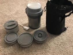 Zojirushi Stainless Thermos Food Jar Lunch Box Bag 4 Contain