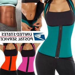 Sweat Sauna Zipper Body Shaper Women Slimming Vest Thermo Ne