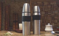 Ovente Thermos Insulated Double Wall Stainless Steel with Tr