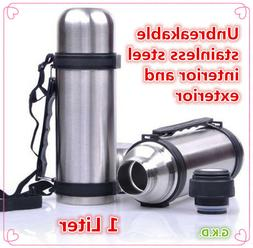 vacuum stainless steel insulated coffee soup bottle